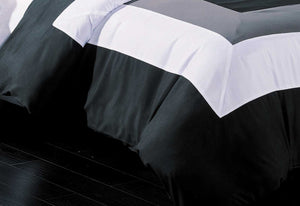 Amore Black Grey White Quilt Cover Set by Luxton