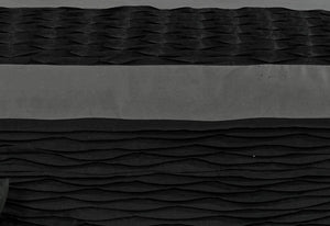 Lentia Black Charcoal Quilt Cover with pintucking