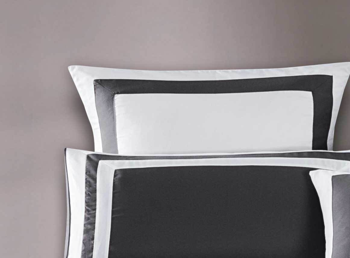 Bailey Quilt Cover Set /Grey & White Duvet Cover Set