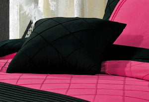 Luxton Falcone Hot Pink Diamond Pintuck Quilt Cover Set