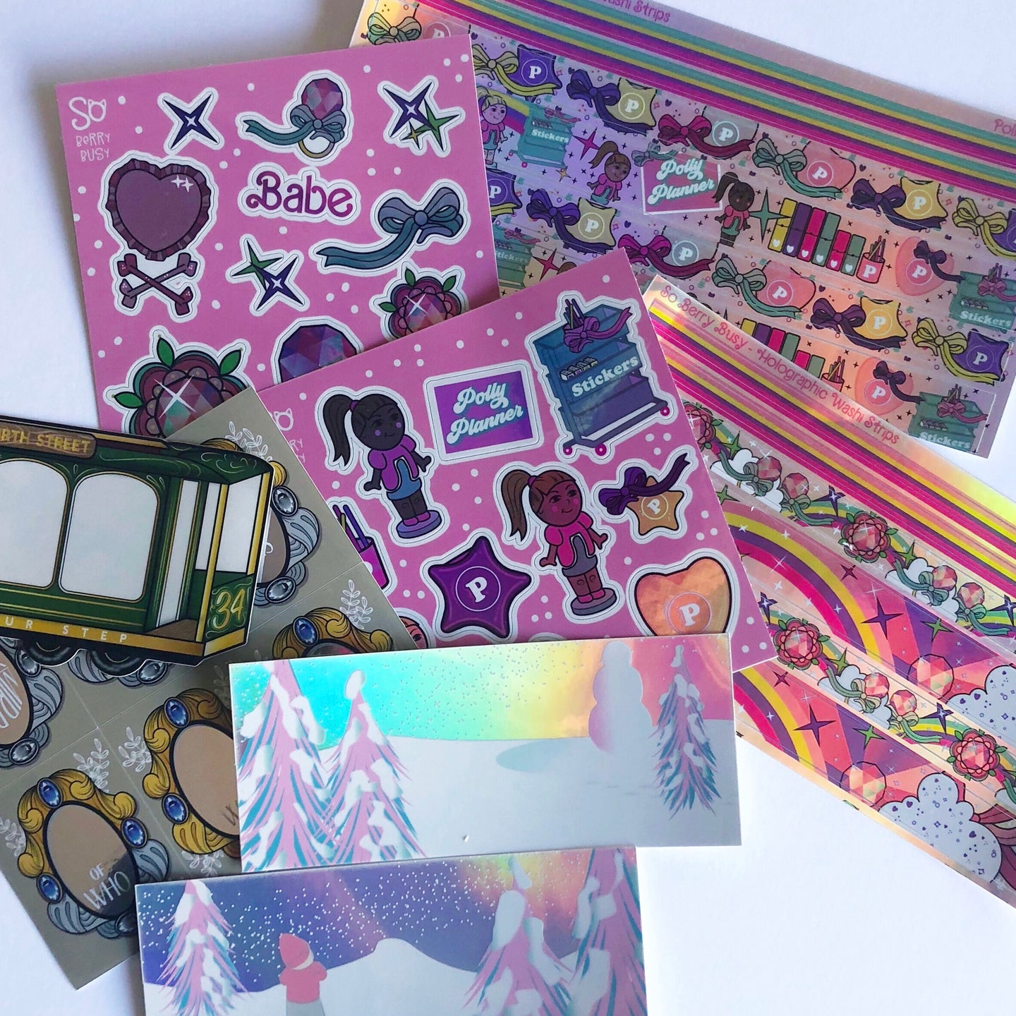 Holographic & Clear Sticker Sheets & Die Cuts