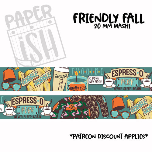 Friendly Fall 20 mm Washi