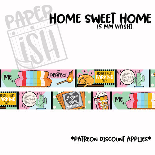 Home Sweet Home 15mm Washi