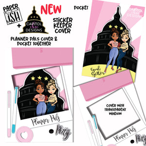 Planner Pals with Capitol Chic Design Sticker Keeper Cover