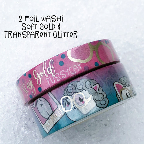 Stay Gold Pussycat Washi Set