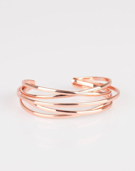 "Paparazzi Accessories - Paparazzi ""Modest Goddess""- Copper Bracelet - Bracelets"