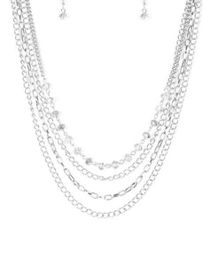 "Paparazzi Accessories - Paparazzi ""Extravagant Elegance "" - Silver - Necklaces"