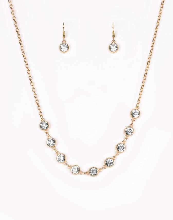 Paparazzi Accessories - Starlit Socials - Gold - Necklaces