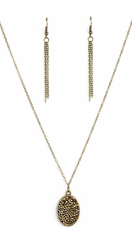 Paparazzi Accessories - Star-Crossed Stargazer Brass Necklace - Necklaces