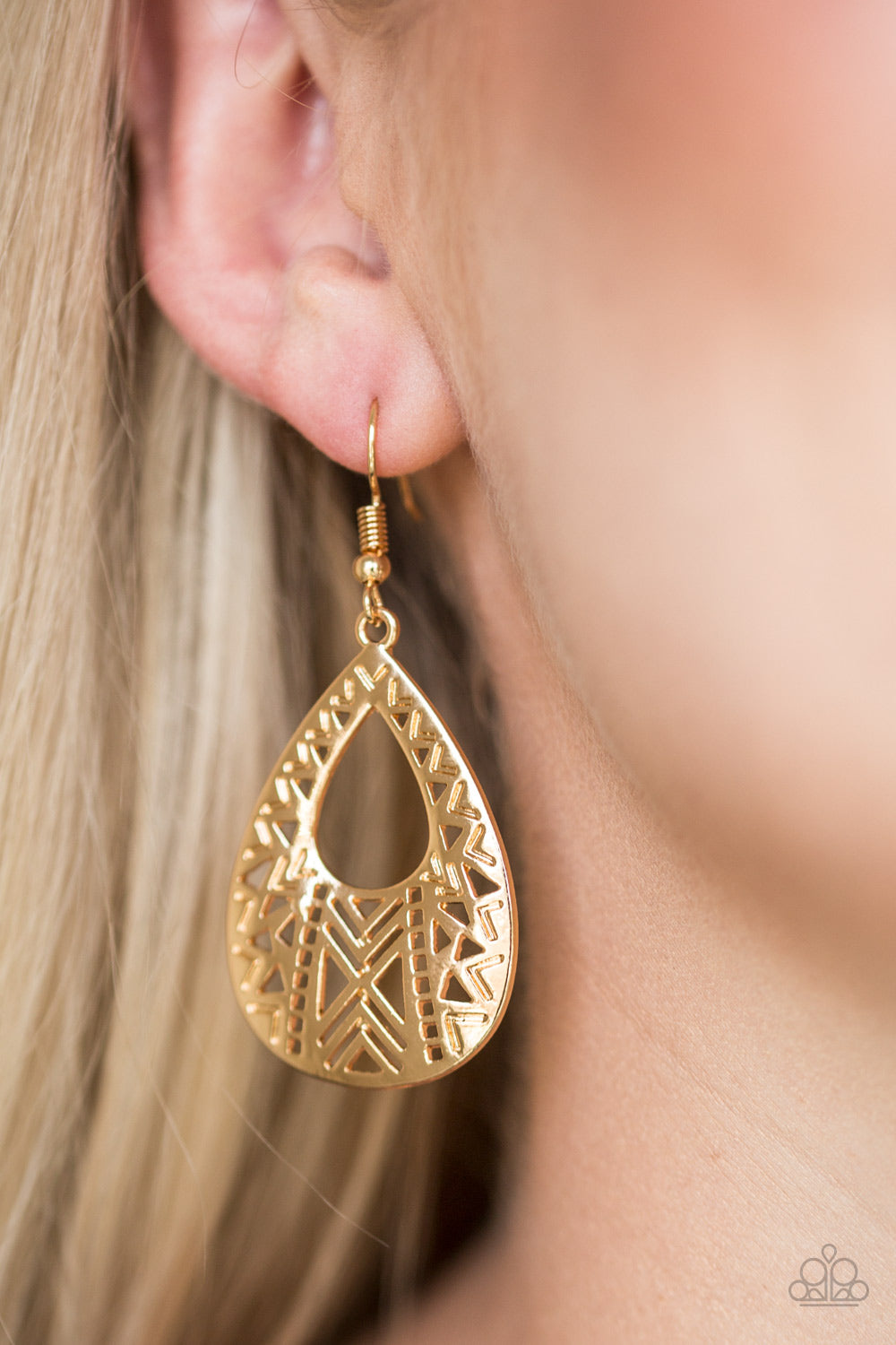"Paparazzi Accessories - Paparazzi Earring - ""Alpha Amazon"" - Gold - Earrings"