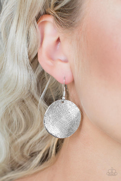 "Paparazzi Accessories - Paparazzi Earring - ""Basic Bravado"" - Silver - Earrings"