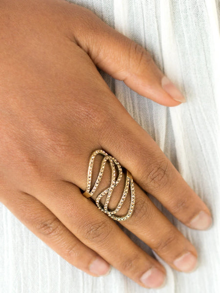 Paparazzi Accessories - Paparazzi Ring - Chasing Starlight - Brass - Rings