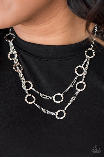 Paparazzi Accessories - Paparazzi Necklace - Circus Couture - Silver - Necklaces