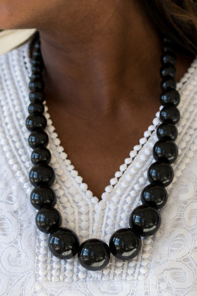 Paparazzi Accessories - Effortlessly Everglades - Black - Necklaces