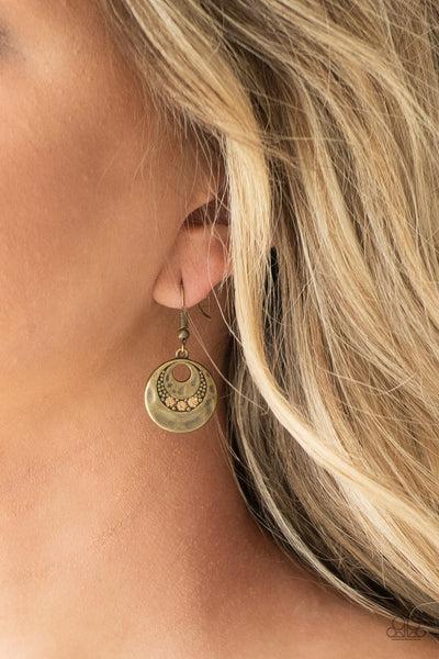 Paparazzi Accessories - Paparazzi Earring - Hard CACHE - Brass - Earrings