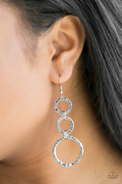 Paparazzi Accessories - Paparazzi Earring - Radical Revolution - Silver - Earrings