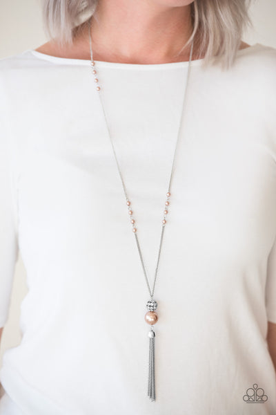 Paparazzi Accessories - Paparazzi Necklace - The Only Show In Town - White - Necklaces