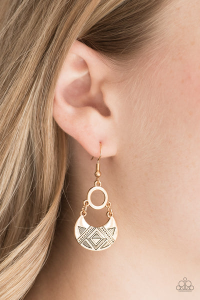 West Side Wild | Gold | Crescent Geometric Earrings