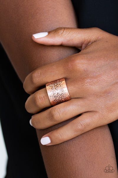 Paparazzi Accessories - Wild Meadows | Copper | Floral Paparazzi Ring - Rings