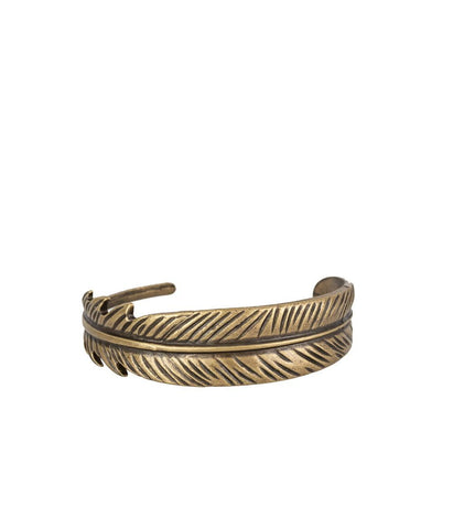 Paparazzi Accessories - Paparazzi - Tran-QUILL-ity - Brass Feather Bracelet - Bracelets