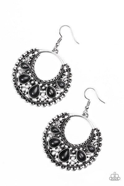 "Paparazzi Accessories - Paparazzi ""Desert Springs"" Black Teardrop Earring - Earrings"