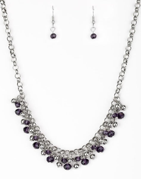Paparazzi Accessories - Trust Fund Baby - Purple Necklace and Earring Set - Necklaces