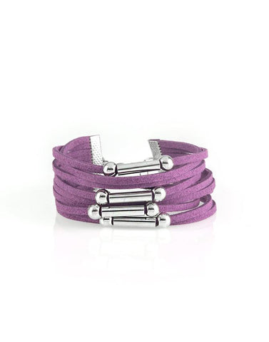 "Paparazzi Accessories - Paparazzi ""Back To BACKPACKER"" - Purple - Bracelets"
