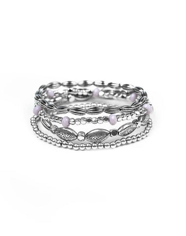 "Paparazzi Accessories - ""Full Of WANDER"" - Silver Bead Paparazzi Bracelet - Bracelets"