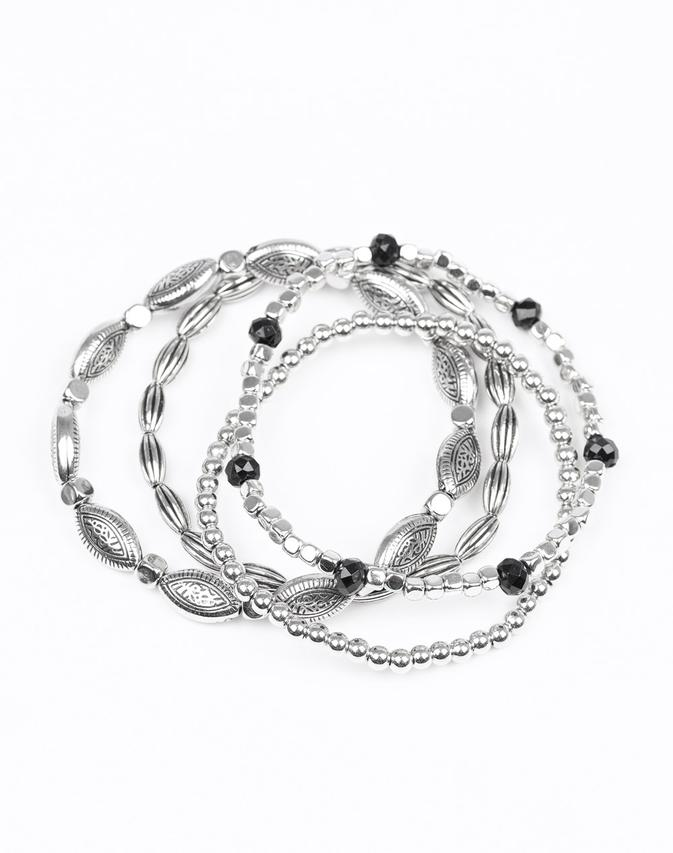 "Paparazzi Accessories - ""Full Of WANDER"" - Black Bead Paparazzi Bracelet - Bracelets"