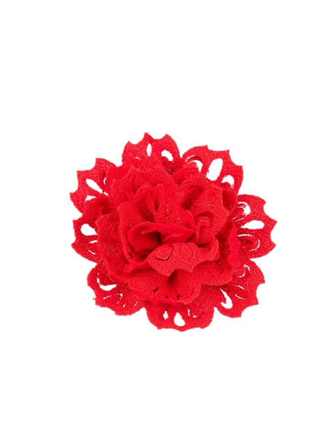 "Paparazzi Accessories - Paparazzi ""Adventurous Azalea"" Red Petal Hair Clip - Hair Accessories"