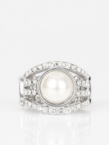 Paparazzi Accessories - A  Big Break White Ring - Rings