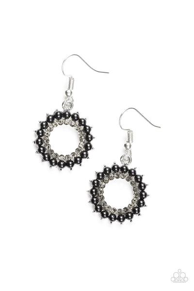"Paparazzi Accessories - Paparazzi Earring - ""A Proper Lady"" - Black - Earrings"