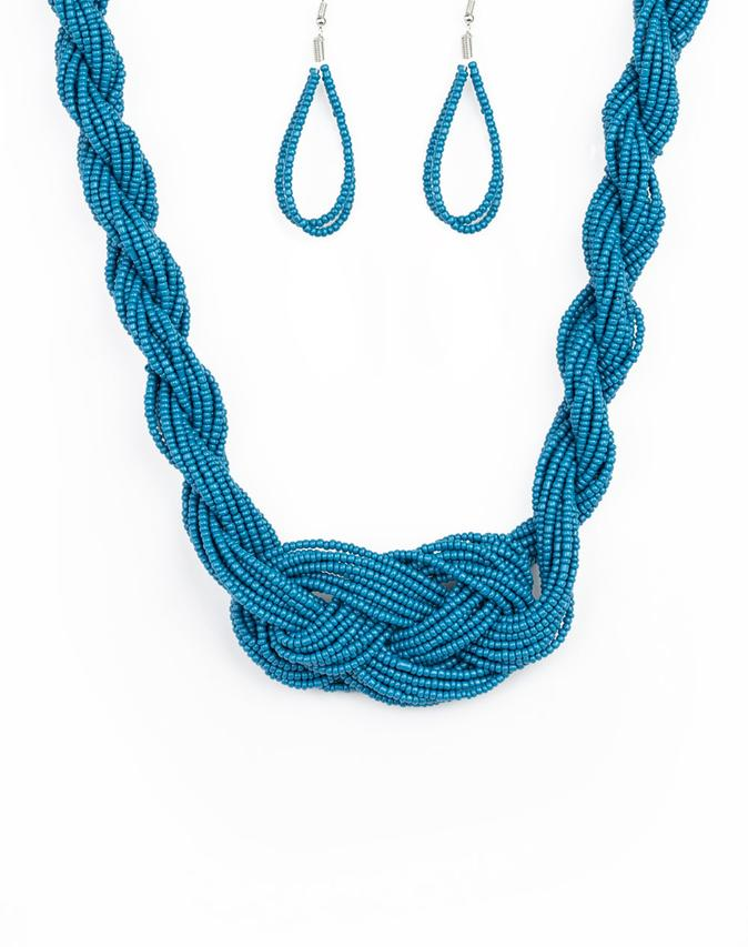 "Paparazzi Accessories - Paparazzi ""A Standing Ovation"" - Blue - Necklaces"