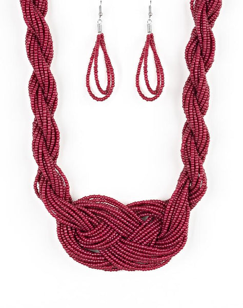 "Paparazzi Accessories - Paparazzi ""A Standing Ovation"" - Red - Short necklace"