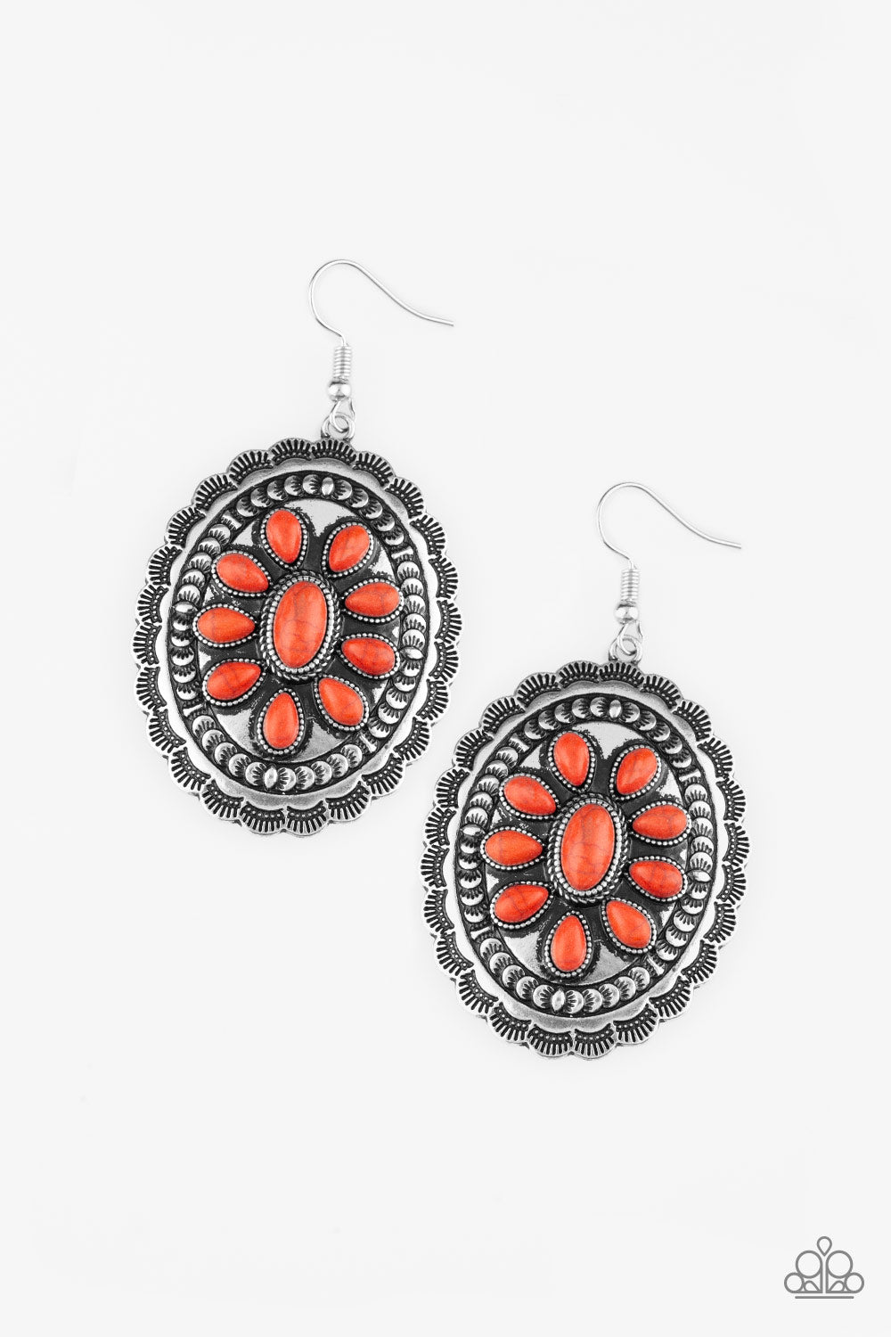 "Paparazzi Accessories - Paparazzi Earring - ""Absolutely Apothecary"" - Orange - Earrings"
