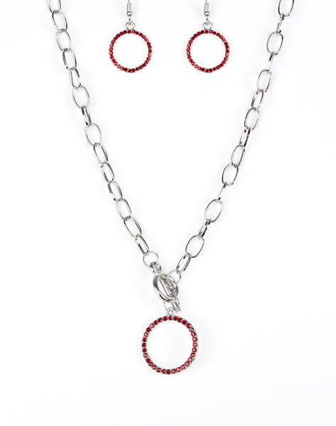 Paparazzi Accessories - All in Favor - Red Necklace - Necklaces