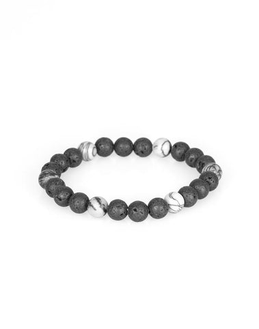 "Paparazzi Accessories - Paparazzi ""All Zen"" - White Bead Bracelet - Bracelets"
