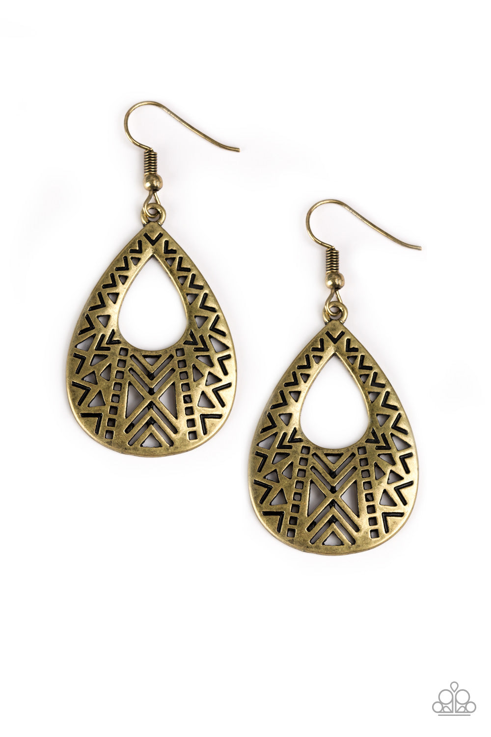 "Paparazzi Accessories - Paparazzi Earring - ""Alpha Amazon"" - Brass - Earrings"