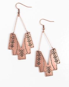 "Paparazzi Accessories - Paparazzi ""Arizona Adobe"" - Copper - Earrings"
