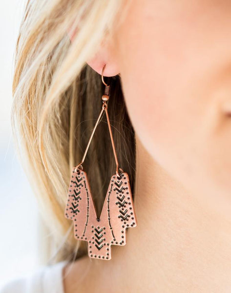 Paparazzi Accessories - Arizona Adobe - Silver - Earrings