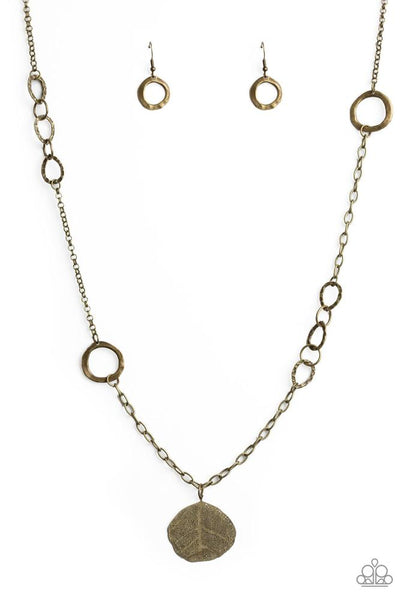 "Paparazzi Accessories - Paparazzi ""Autumn Collage"" - Brass - Long Necklace"