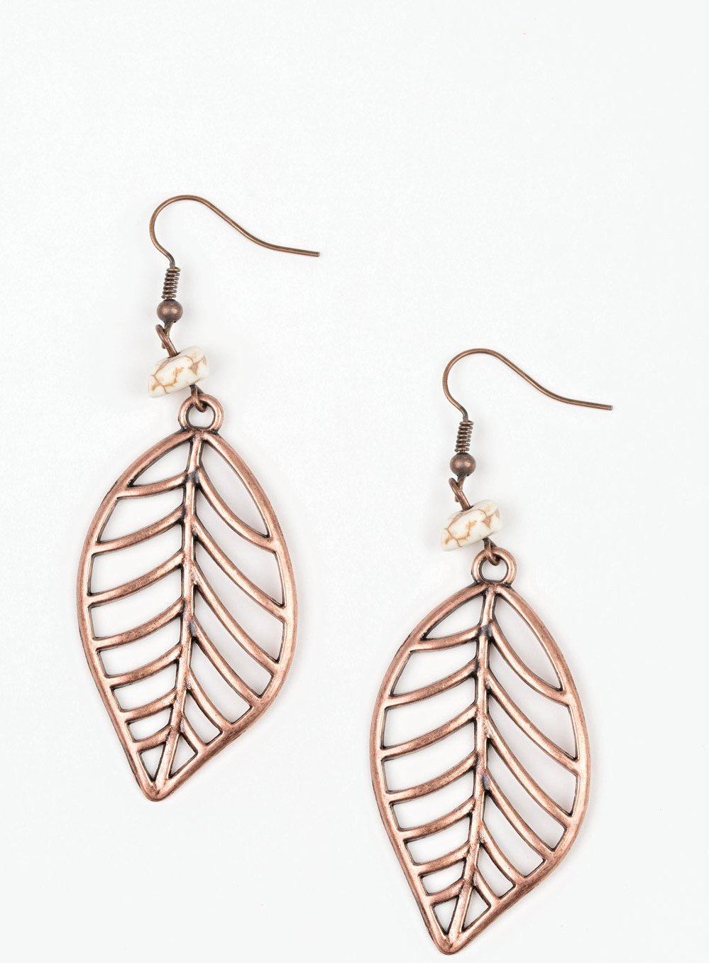 "Paparazzi Accessories - Paparazzi ""BOUGH Out"" - Copper Earrings - Earrings"