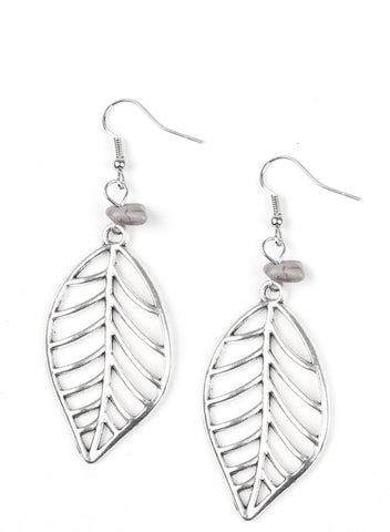 "Paparazzi Accessories - Paparazzi  ""BOUGH Out"" - Silver Earrings - Earrings"
