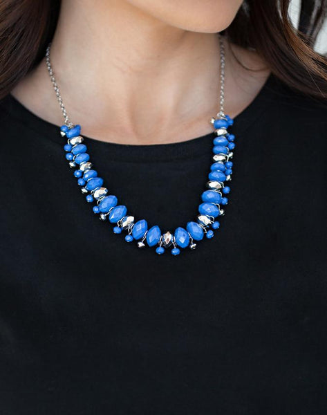 "Paparazzi Accessories - Paparazzi ""BRAGs To Riches"" - Blue - Necklaces"