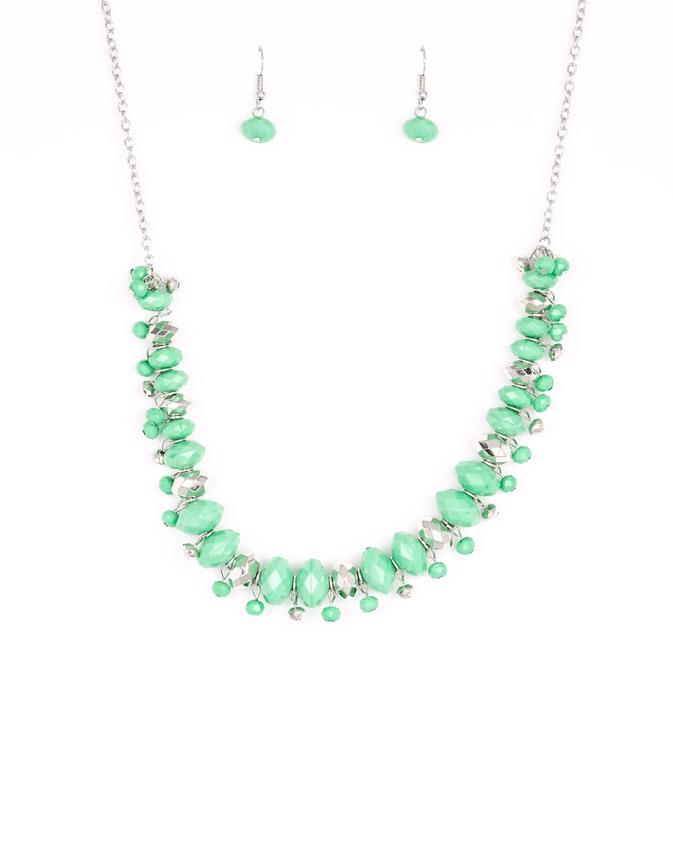 "Paparazzi Accessories - Paparazzi ""BRAGs To Riches"" - Green - Necklaces"