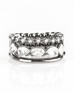 Paparazzi Accessories - Backstage Sparkle - Black Ring - Rings