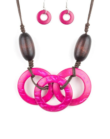 "Paparazzi Accessories - Paparazzi ""Bahama Drama"" - Pink - Necklaces"