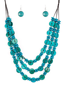 "Paparazzi Accessories - Paparazzi ""Barbados Bopper"" - Blue - Necklaces"