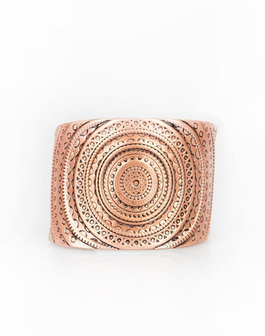 "Paparazzi Accessories - Paparazzi ""Bare Your SOL"" - Copper - Bracelet"