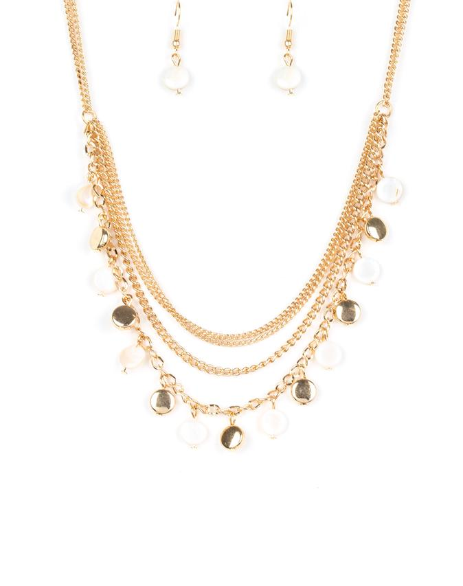 "Paparazzi Accessories - Paparazzi ""Beach Flavor"" - Gold - Short necklace"